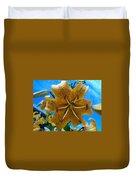 Lilium Yellow Duvet Cover