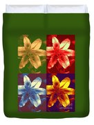 Lillies Of Four Duvet Cover
