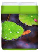 Lillies On Water Duvet Cover