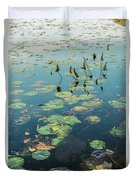 Lilly Pad In Pond  Duvet Cover
