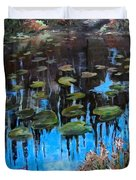Lilly Pads And Reflections Duvet Cover