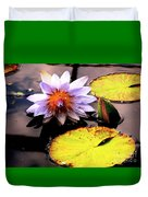 Lillypad In Bloom Duvet Cover