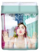 Lily Collins Duvet Cover