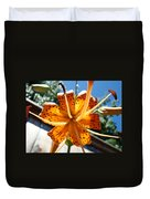 Lily Flower Artwork Orange Lilies 3 Giclee Art Prints Baslee Troutman Duvet Cover