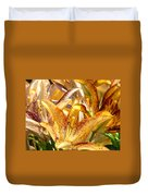 Lily Flower Garden Art Prints Canvas Floral Lilies Baslee Troutman Duvet Cover