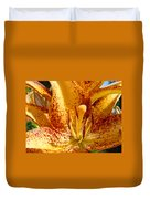 Lily Flower Macro Orange Lilies Floral Art Print Baslee Troutman Duvet Cover