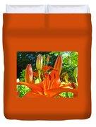 Lily Flowers Garden Art Prints Orange Lilies Floral Baslee Troutman Duvet Cover