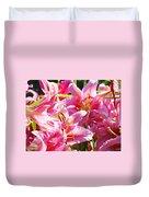 Lily Garden Floral Art Prints Pink Lilies Baslee Troutman Duvet Cover