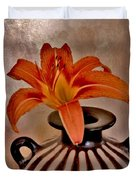 Lily In A Peruvian Vase Duvet Cover