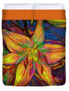 Lily In Abstract Duvet Cover