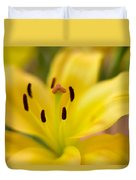 Lily In Close-up Duvet Cover