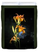 Lily In Monets Garden Duvet Cover