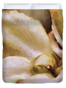 Lily In The Garden Neutral Duvet Cover