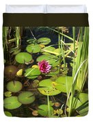 Lily Pad Pond In High Noon Sun Duvet Cover