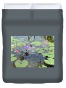 Lily Pads And Koi 1 Duvet Cover