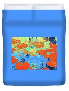 Lily Pads And Koi 10 Duvet Cover