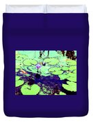 Lily Pads And Koi 2 Duvet Cover
