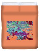 Lily Pads And Koi 24 Duvet Cover