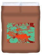Lily Pads And Koi 35 Duvet Cover