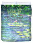 Lily Pads Triptych Panel Three Of Three Duvet Cover