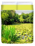 Lily Pond #4 Duvet Cover