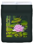 Lily Pond And Pink Duvet Cover