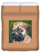 Lily, Soft Coated Wheaten Puppy Duvet Cover