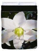 Lily White Duvet Cover