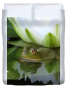 Lilyfrog - Frog With Water Lily Duvet Cover