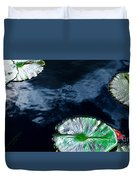 Lilypads And Sky Reflections Duvet Cover
