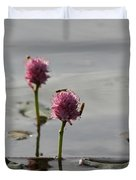 Lilypads And Wasps Duvet Cover