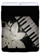 Lily's Piano Duvet Cover
