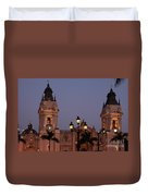 Lima Cathedral Twin Towers One Duvet Cover