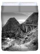 Lime Creek Bridge Highway 1 Big Sur Ca B And W Duvet Cover