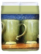 Lime Green Cups Duvet Cover