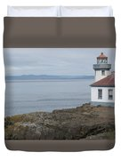 Lime Kiln Lighthouse Panorama Duvet Cover