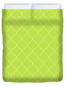 Lime Punch Quatrefoil Duvet Cover