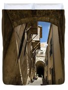 Limestone And Sharp Shadows - Old Town Noto Sicily Italy Duvet Cover