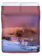 Limestone Artwork Minerva Springs Yellowstone National Park Duvet Cover