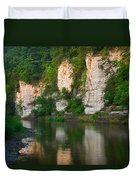 Limestone Bluffs Along Upper Iowa Duvet Cover