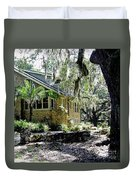 Limestone Home In The Trees Duvet Cover