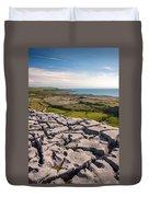 Limestone Landscape Of The Burren Ireland Duvet Cover