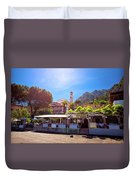 Limone Sul Garda Square And Church View Duvet Cover