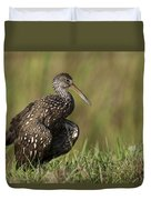 Limpkin Stretching In The Grass Duvet Cover