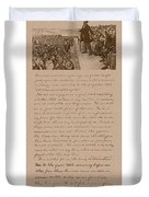 Lincoln And The Gettysburg Address Duvet Cover