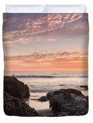 Lincoln City Beach Sunset - Oregon Coast Duvet Cover