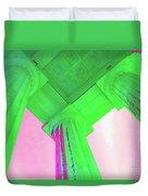 Lincoln Column Green Duvet Cover