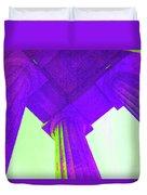 Lincoln Column Purple Duvet Cover