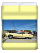 Lincoln Continental At Brint's Diner Duvet Cover