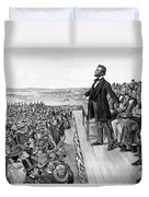 Lincoln Delivering The Gettysburg Address Duvet Cover